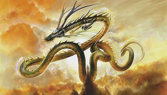Imagen de una representación de un dragón chino