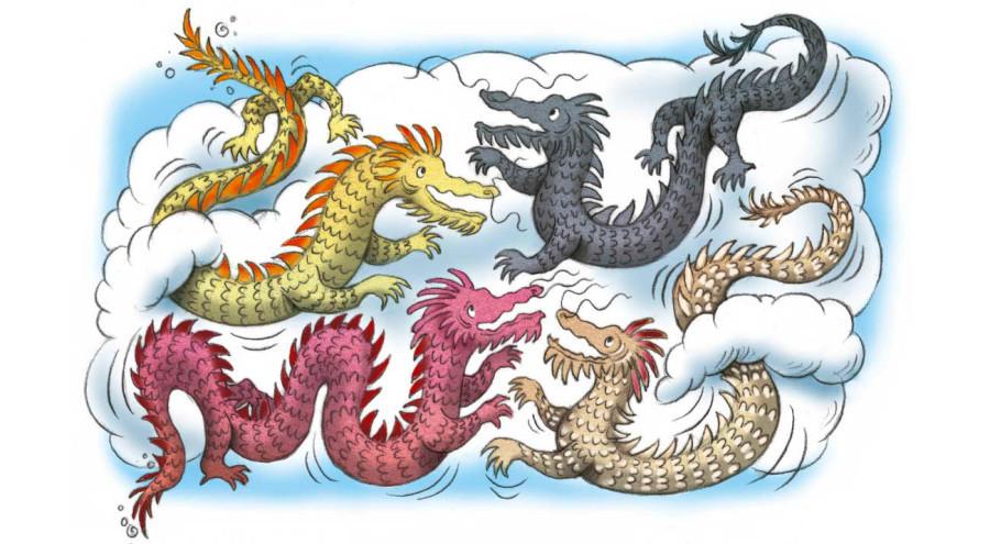 La verdadera leyenda de los 4 dragones