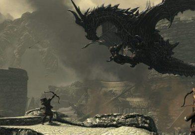 Alduin el dragón de Elder Scroll V: Skyrim