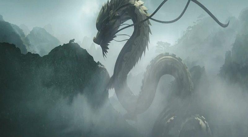 Shenlong el dragón chino de la lluvia y el viento